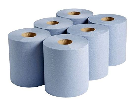 Blue cfeed paper towel